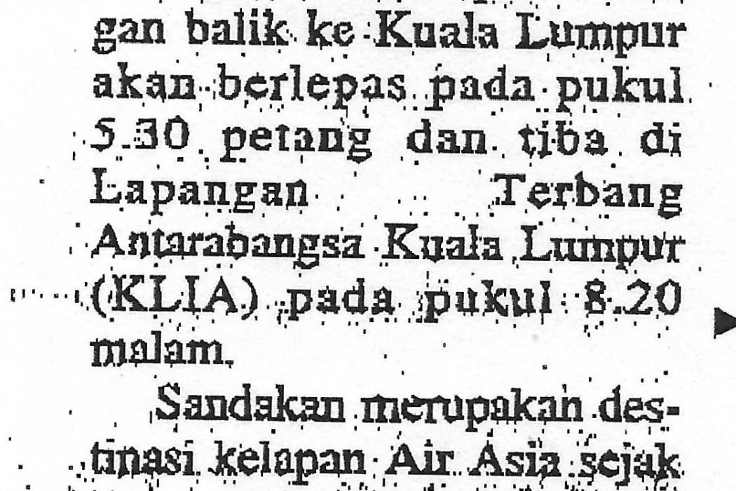 S'kan-Sibu destinasi terbaru Air Asia