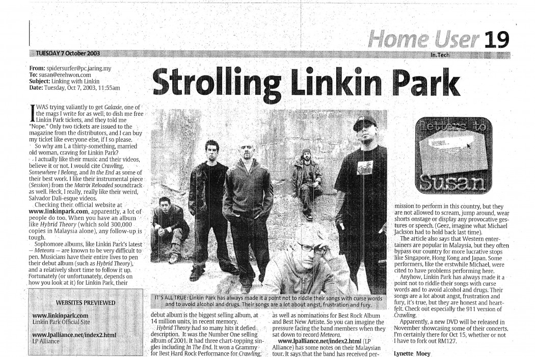 Strolling Linkin Park