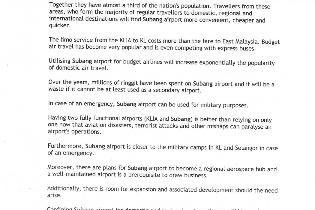 Subang Airport ideal for budget carriers - 02