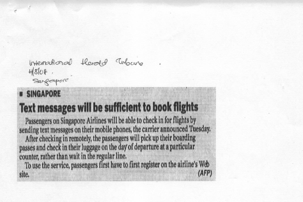 Text messages will be sufficient to book flights