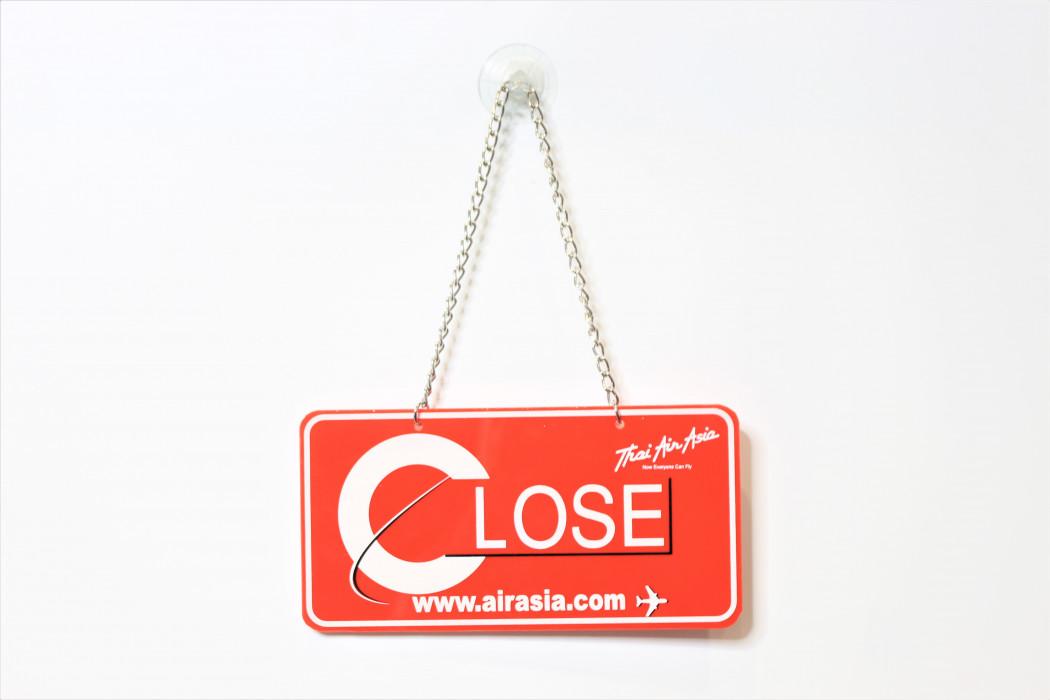 Thai airasia Open Close signage (2)