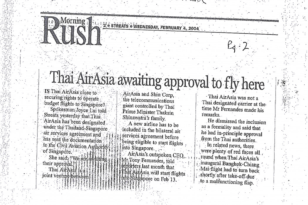 Thai airasia awaiting approval to fly here