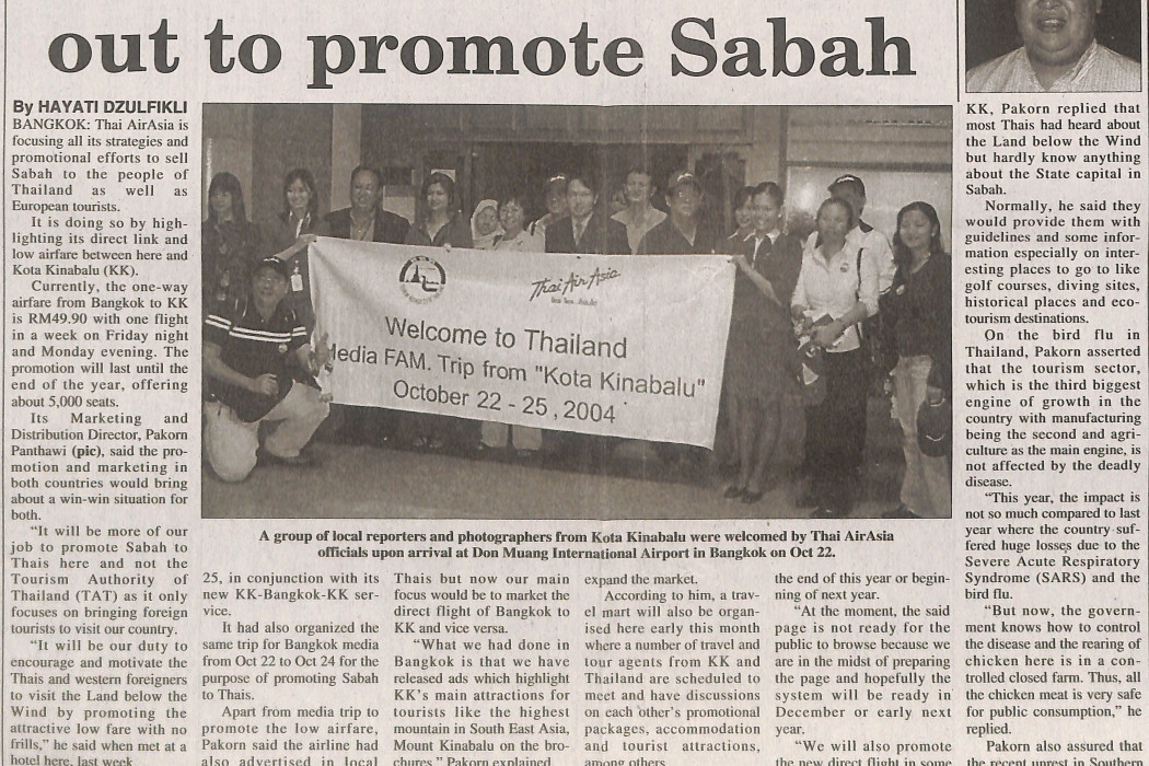 Thai airasia going all out to promote Sabah