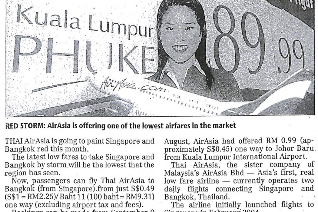 Thai airasia to paint S'pore, Bangkok red