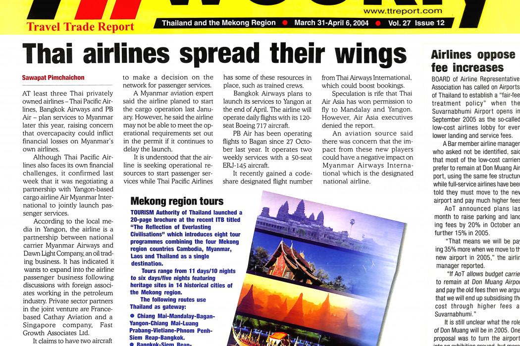 Thai airlines spread their wings