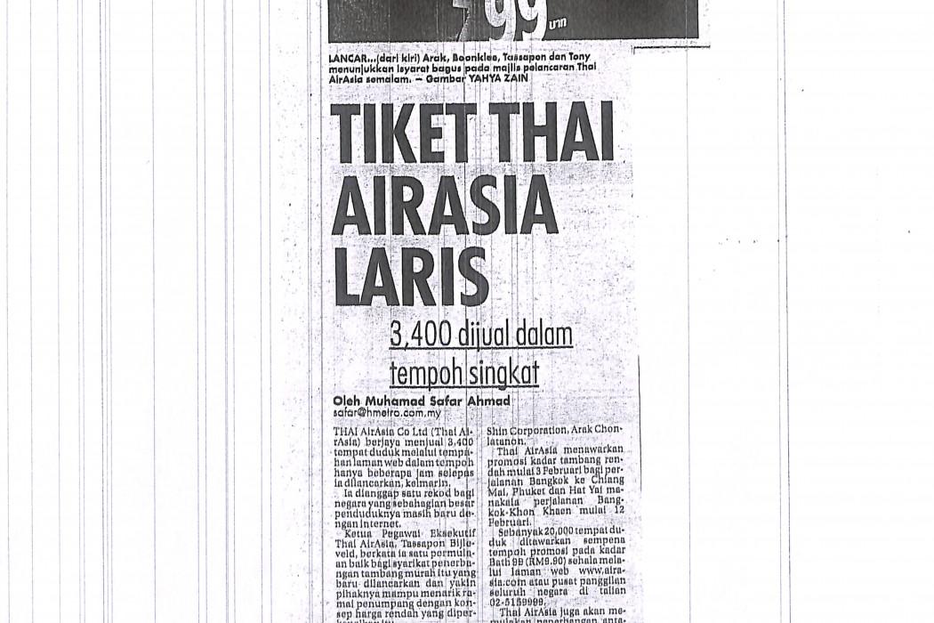 Tiket Thai airasia Laris