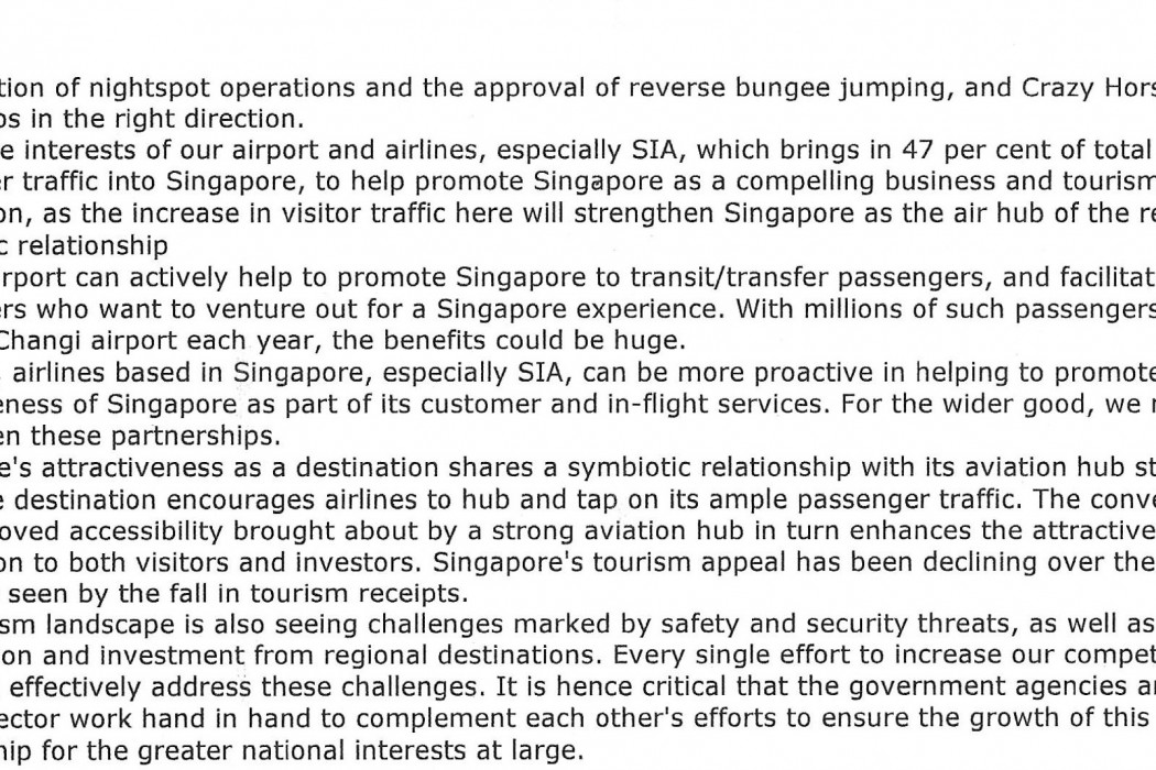 Tourism in S'pore - the challenge and the game plan - 03