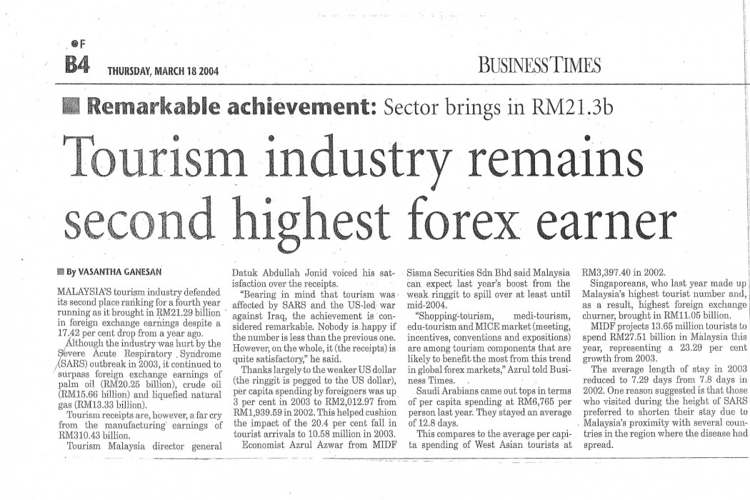 Tourism industry remains second higher forex earner