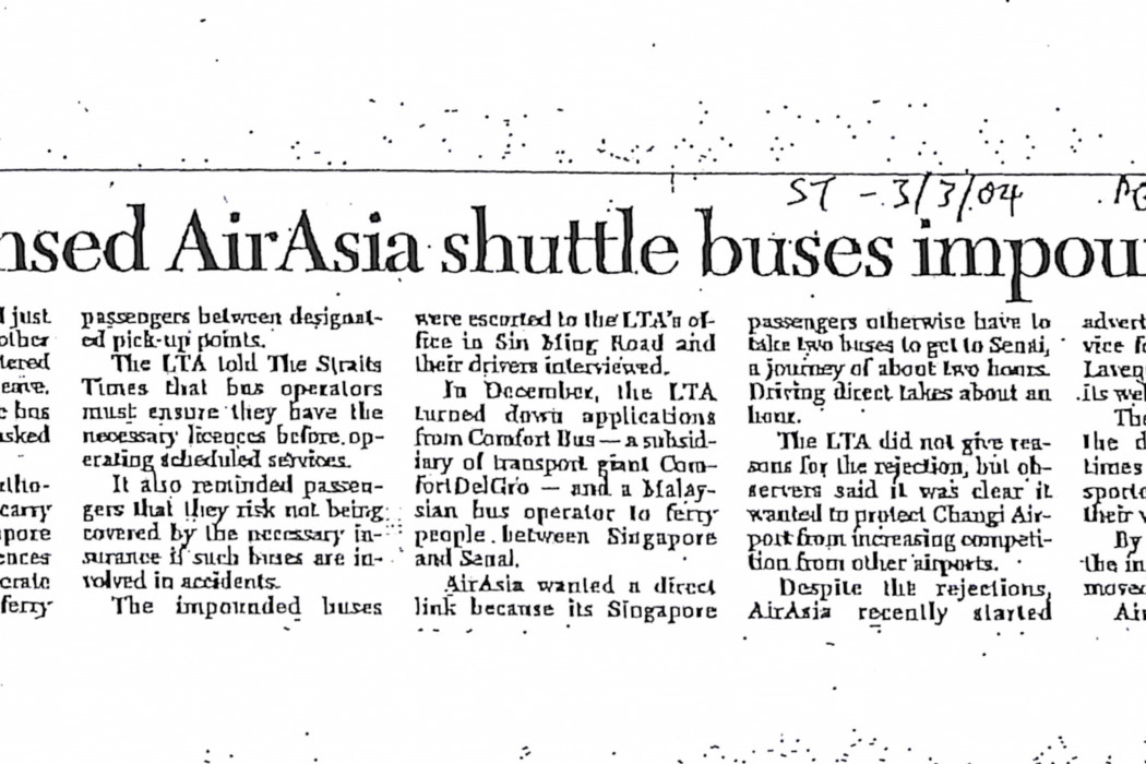 Unlicensed airasia shuttle buses impounded