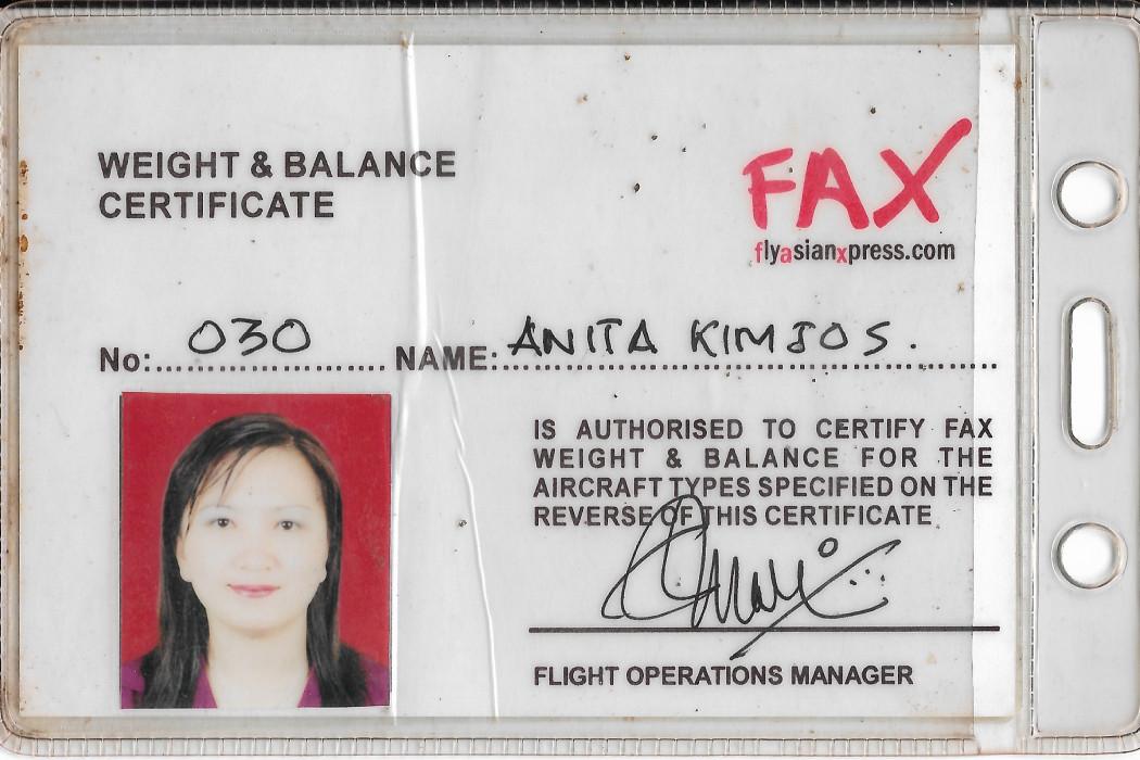 Weight & Balance Certificate (1)