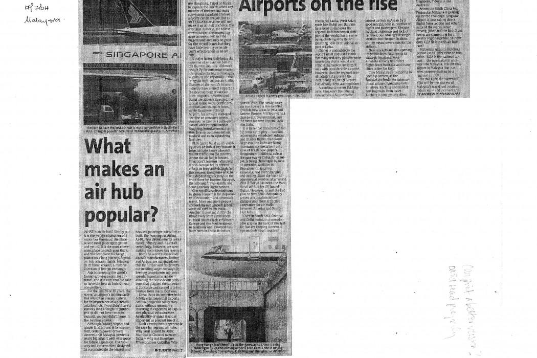 What makes an air hub popular