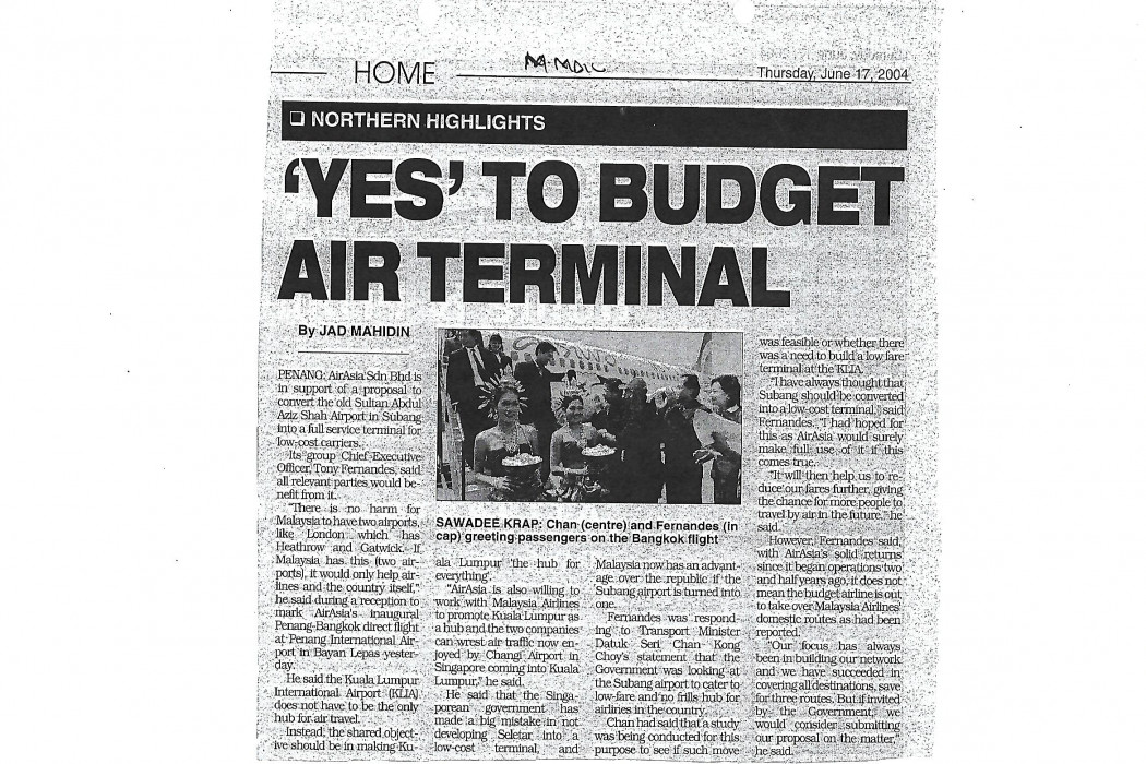 Yes' To Budget Air Terminal