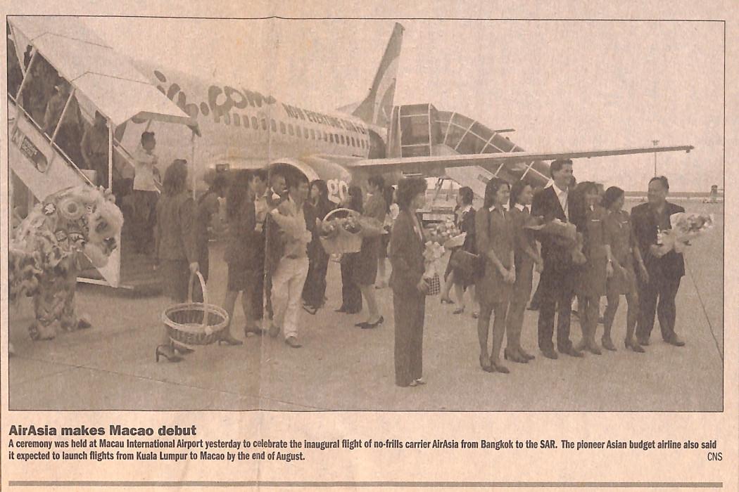 (image) - airasia makes Macao debut