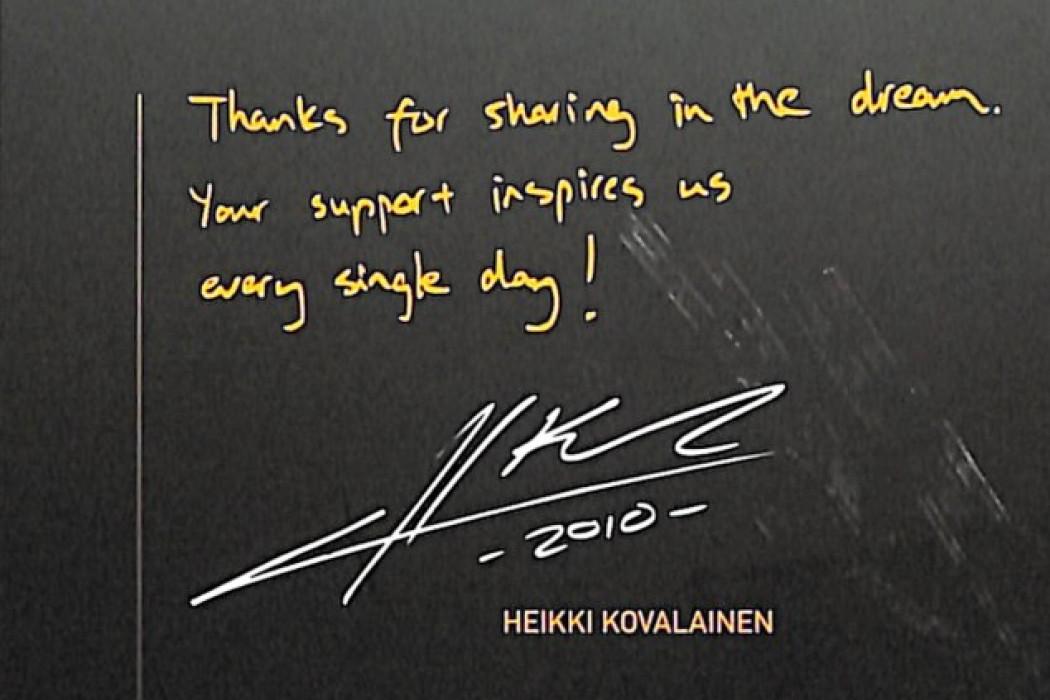 Sponsorship Heikki Kovalainen 02