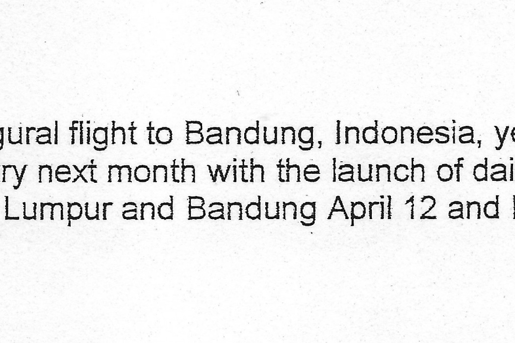(untitled.) airasia completed its inaugural flight to Bandung